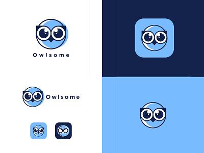 Owlsome vector graphic design icon logotype logo design branding design minimal illustrator brand branding design brand identity flat illustration tech logodesign