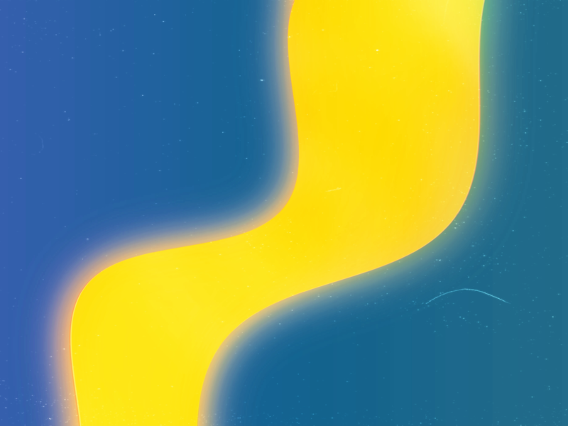 Yellow Flow paint fluid stream flux flow blur wave blue yellow color graphic shape pattern minimal digital artwork abstract art wallpaper design abstract
