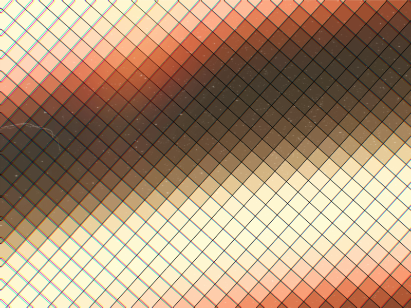 Grid Brown digital artwork red orange brown psychedelic grid chart square quad pattern abstract art geometric flat minimal shape retro wallpaper design abstract