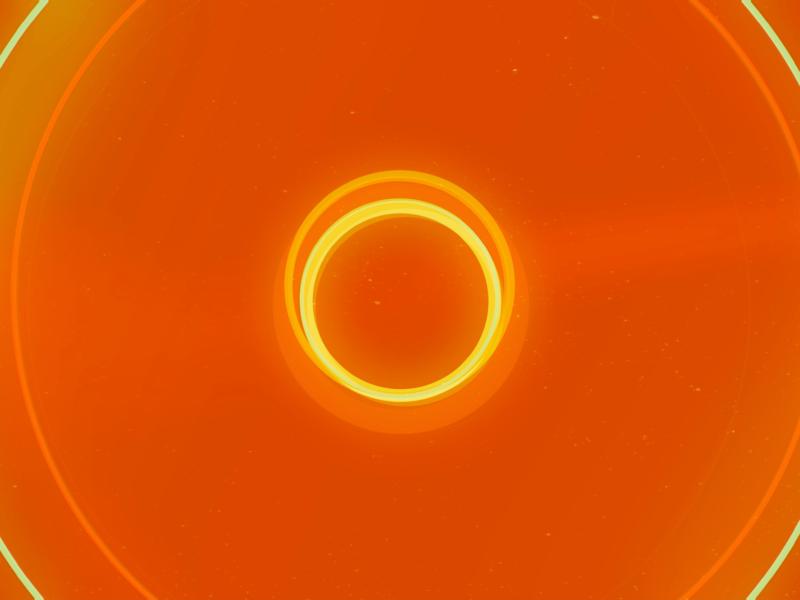 Orange Circles circles rings loop hoop center middle pop vinyl hot geometric flat minimal graphic artwork retro digital abstract art wallpaper design abstract