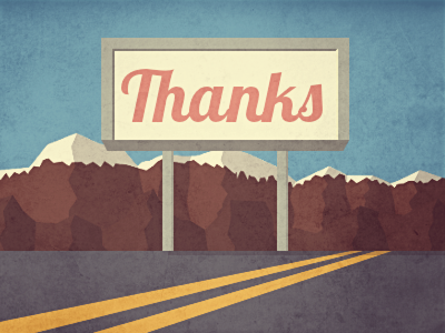 Thanks Lea Pische debuts debut dribbble thanks mountains route