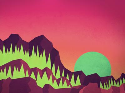 Mountain Fall wallpaper mountains sunset landscape flat rocks