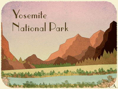 Yosemite Postcard yosemite postcard vintage california national park mountains landscape