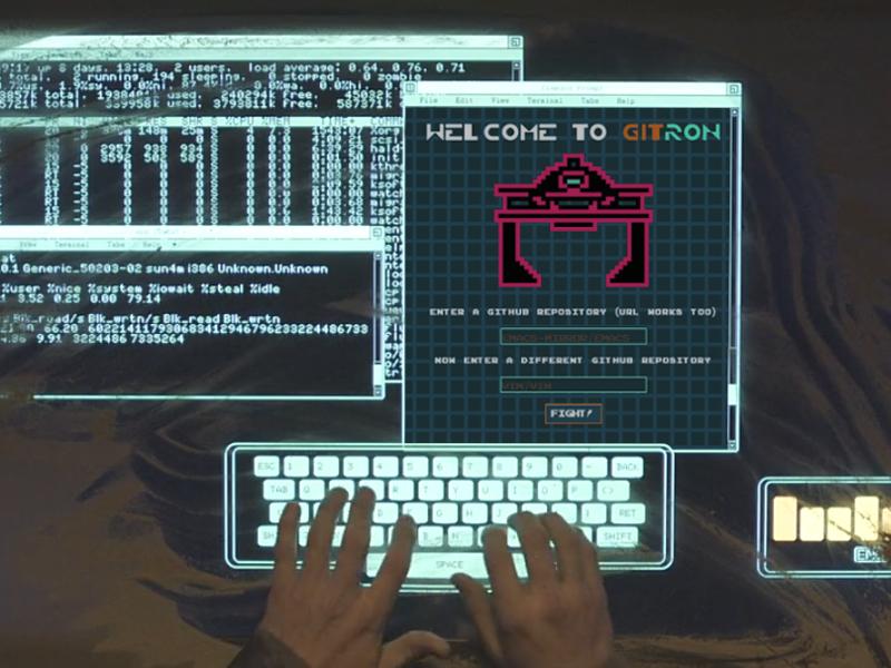 GITRON git github web game web app game tron