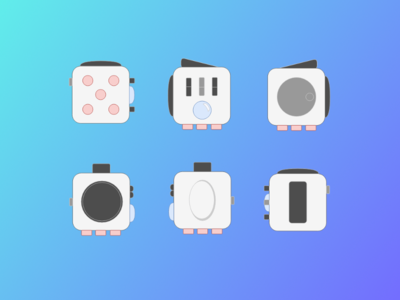 Fidget Cube flat icons v.2 icon fidget cube fidgetcube flat icons fidget