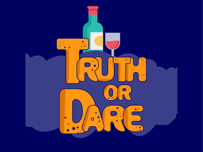 Truth and Dare Game Logo typography vector design graphicdesign graphic logotype logo design logo game