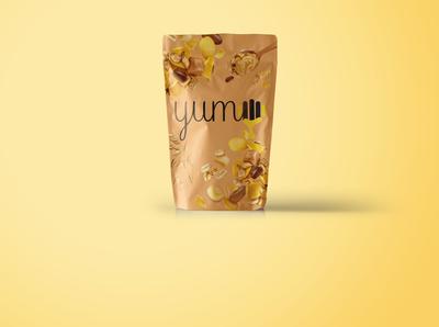 granola YUMM LOGO branding logotype design logodesign logo animation ui logo vector illustration dailylogochallenge