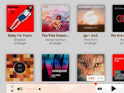 Music player Pulselocker user interface