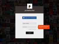Login page design for Pulselocker