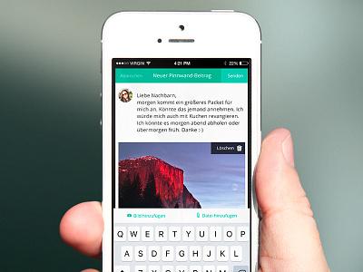 Input modal in overlay interface app ios overlay webapp