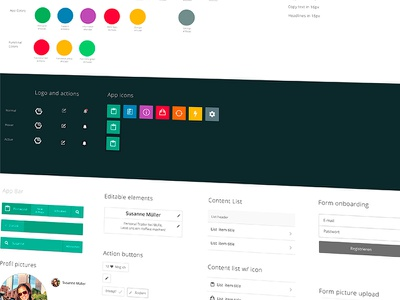 UI elements // GUI library pattern wallpaper modules elements interface user gui
