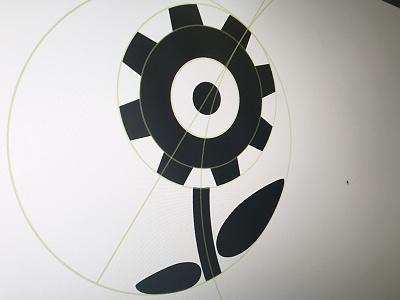 Logo explorations grid flower logo brand