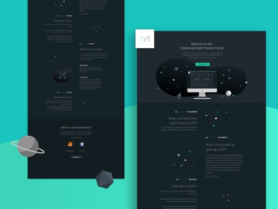 Onepage Website for Crypto Coins website design black  white green one color planetary planet space teaser uidesign ui uxui ux landing page landingpage black dark theme dark mode one page onepage