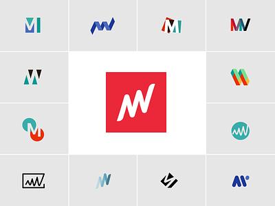 Matterway Logo Brand Exploration vector brand branding design flatdesign flat clean logodesign logo brand design