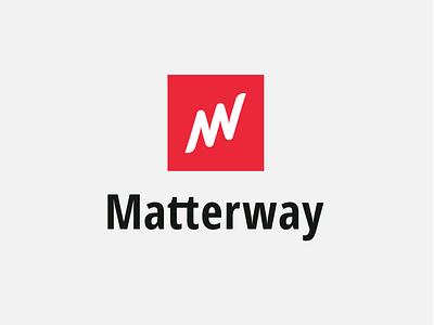 Matterway Logo Brand automation sales b2b experience ux ui vector box way matter square line figurative design branding flat brand logo