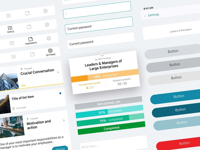 Design System for Intao Mobile App interface business guideline flat sketch clean mobile app design app ux ui module styleguide guide design system system design