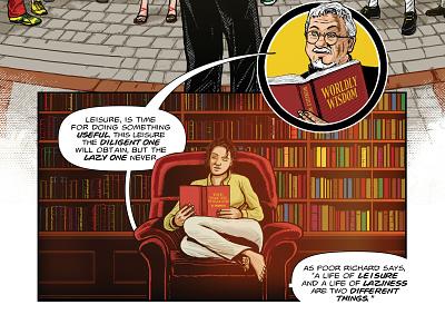 Benjamin Franklin's The Way To Wealth – p. 25 poor richard success graphic novel comics benjamin franklin american history adobe photoshop adobe illustrator