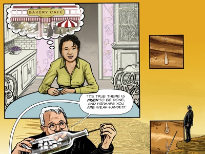 Benjamin Franklin's The Way To Wealth – p. 41 adobe photoshop adobe illustrator success illustration american history graphic novel comics