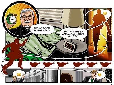 Benjamin Franklin's The Way To Wealth – p. 13 success illustration graphic novel comics benjamin franklin american history adobe photoshop adobe illustrator