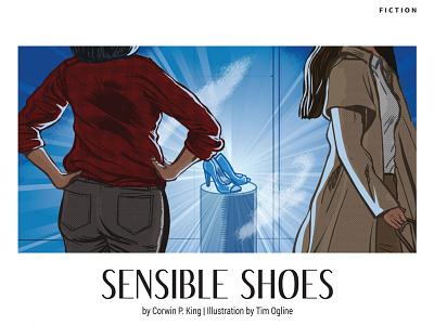 Sensible Shoes magazine illustration fiction short story adobe photoshop adobe illustrator illustration