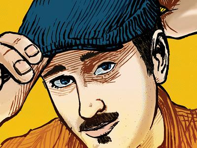 "Jonathan Baylis (""So Buttons"") headshot sketch comic art illustration autobio comix indie comix"