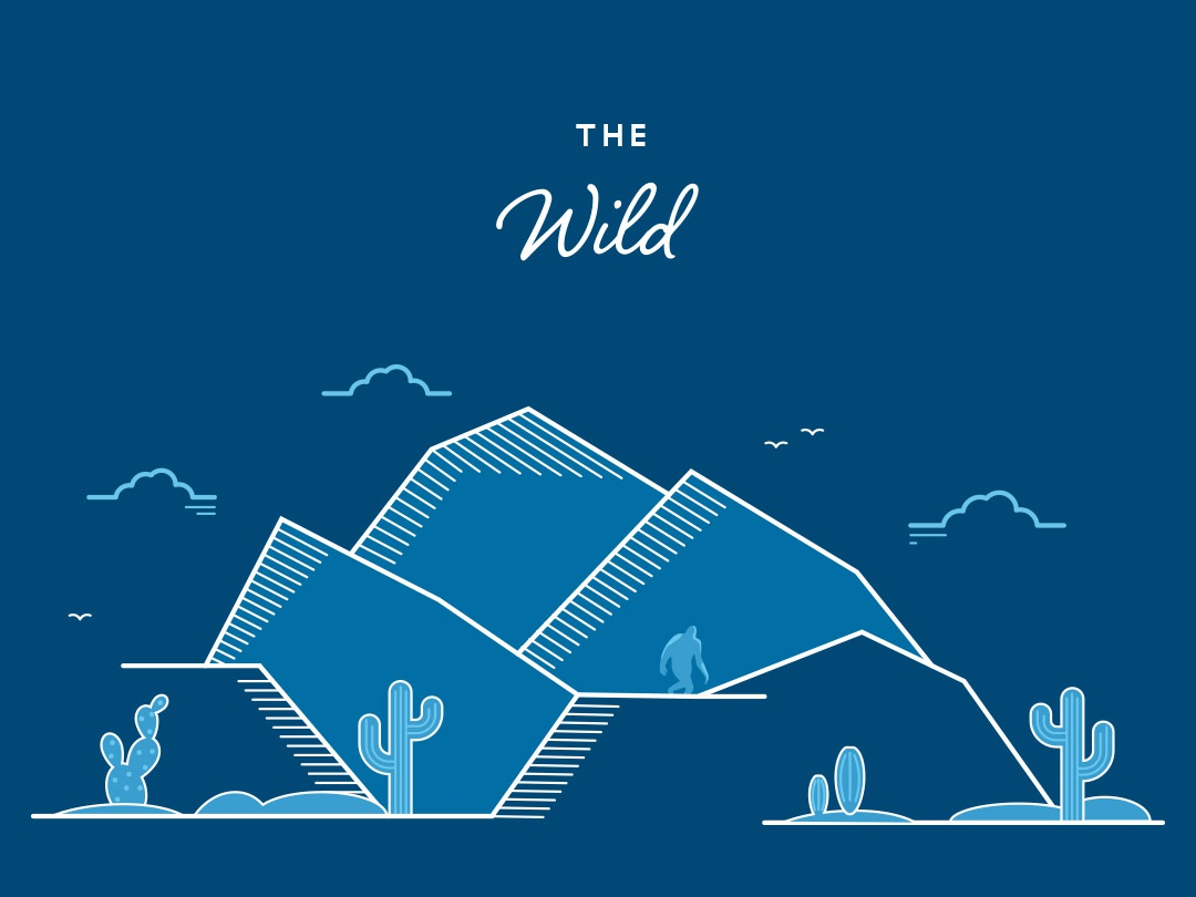 The Wild wild design vector illustration