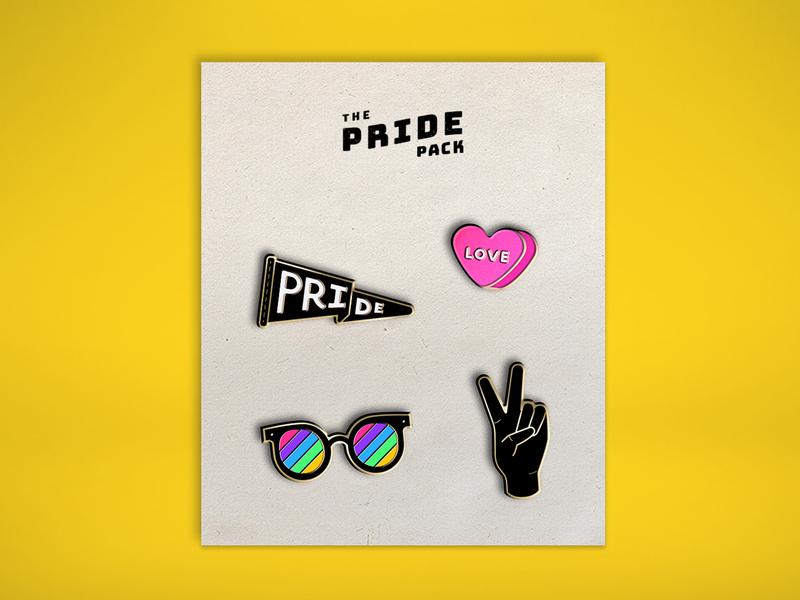 Pride Enamel Pins pride month pride vector icon design illustration enamel pin enamel
