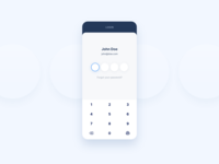 Login screen for shipping app light contrast mobile simplicity minimal sign in shipping product user ux ui digital clean app simple fingerprint numpad login password