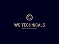 Logo + identity elements for WS Technicals typography clean flat design illustration icon identity concept branding logo