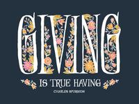 Giving is True Having