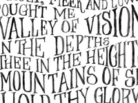 The Valley of Vision, a Puritan's prayer