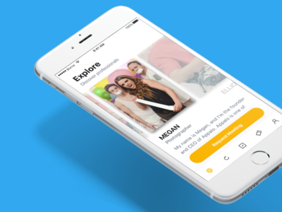 Explore debut app ios ux ui