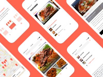 Streats-Mobile App minimal white orange user experience user interface uiux street food food mobile app