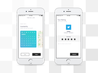 Recruitment UI typography gradient web app android ios mobile website clean white ux ui