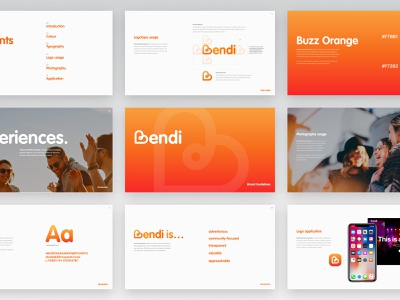 Bendi Branding guidelines typography digital digital agency logo branding design