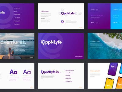 OppNLyfe Branding brand colour palette digital agency typography branding design