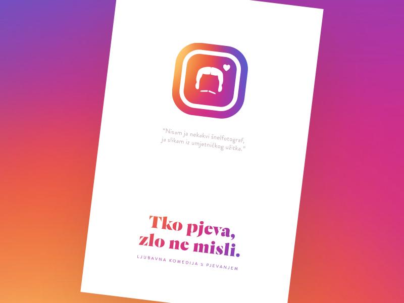 Minimal movie posters #1 - Tko pjeva, zlo ne misli. fulir croatia simple illustration gradient instagram poster movie minimal