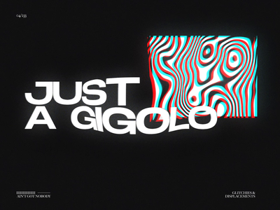 JUST A GIGOLO // G&D04