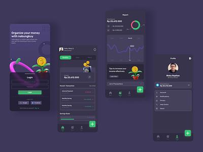 Financial Management UI Apps minimal design de ux