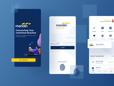 Mobile Banking Mandiri UI minimal app ui ux design