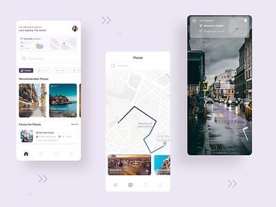 Travel and Map Tracking App minimal uiux app mobileapp uiuxdesign uidesign figma ux ui design