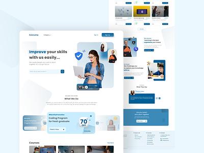 Online Course Blended Learning - Landing Page website webdesign ux ui landingpage figma uiuxdesign uxdesign uidesign