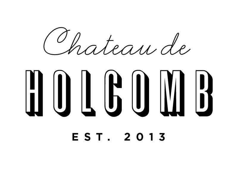 Chateau de Holcomb logo wine typography script sans serif branding