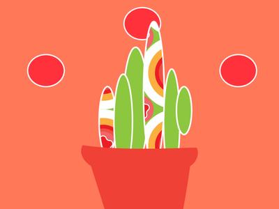 Groovy Cactus Illustration graphic designer illustration art pattern art pattern a day pattern design cactus illustration botanical illustration cactus