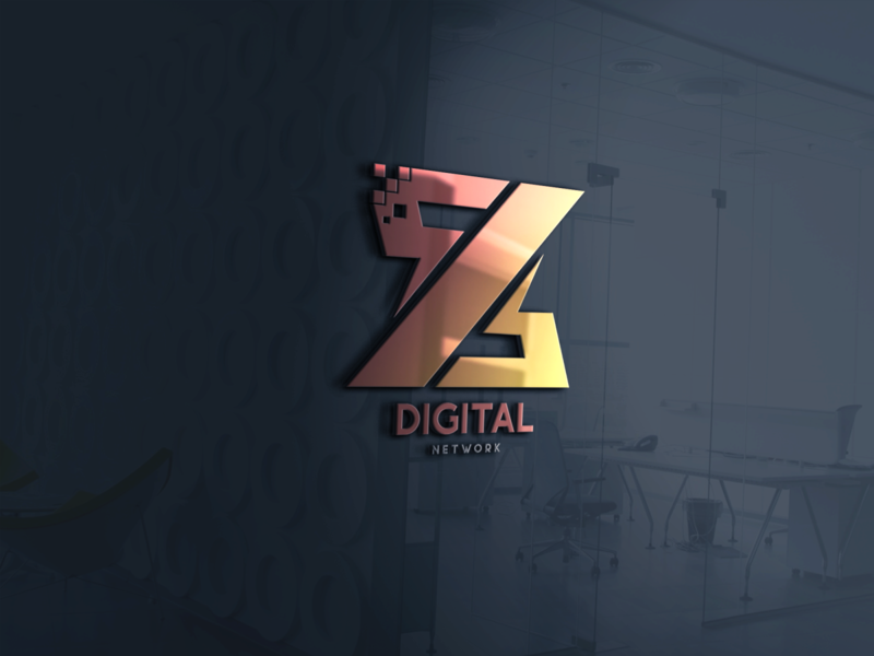 Z Digital Network designs design branding minimalist logo logos logo branding design brand design logodesign graphicdesign