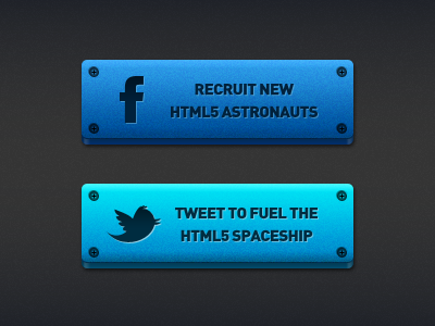Space Buttons buttons facebook twitter space
