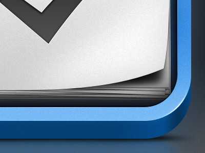 Things Icon icon app things cool glow crisp clean blue white checkbox black page curl shadow