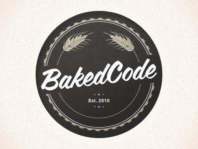 BakedCode logo seal icon vector