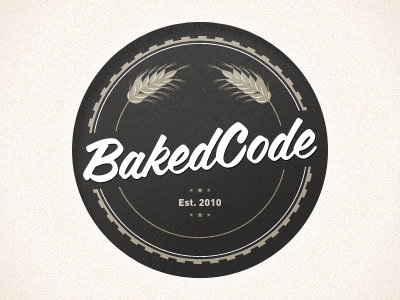 BakedCode logo seal icon vector