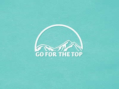 Go For The Top logo mark brand